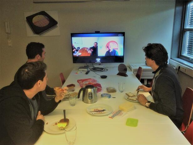 lunch photo with Skype