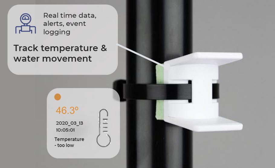 disruptive technologies pipe monitoring for legionella compliance