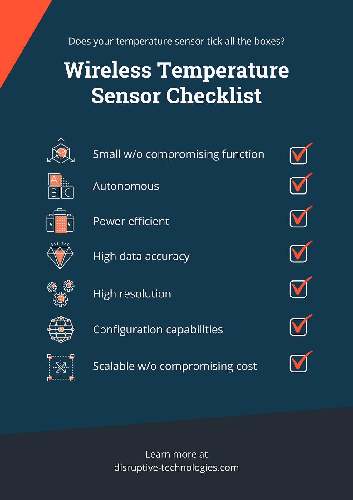 wireless temperature sensor checklist