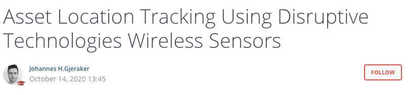 asset location tracking using disruptive technologies wireless sensors application note