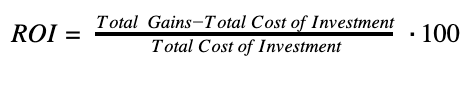 ROI return on investment formula