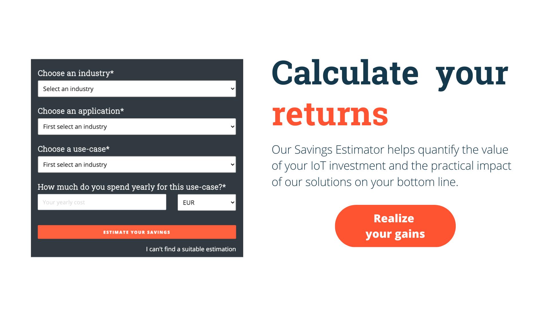 use the savings estimator